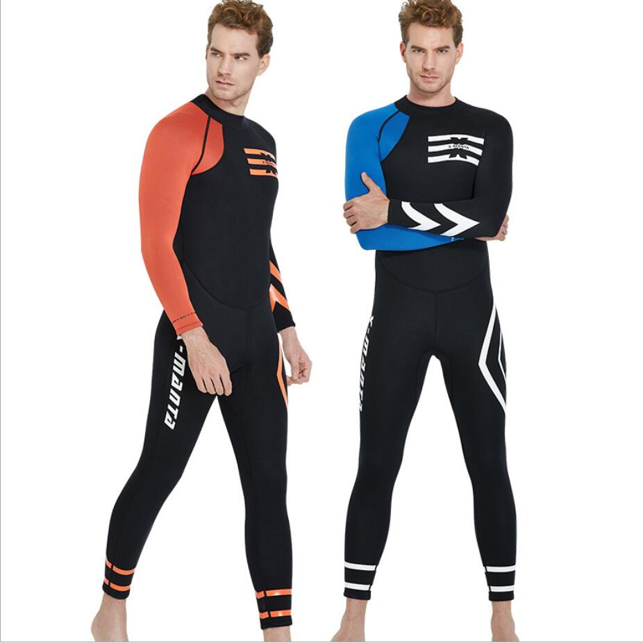 3mm warm one-piece wet diving suit Swimwear Neoprene Scuba Diving Wetsuit Men Underwater Hunting Spearfishing Diving Suit 361 цены