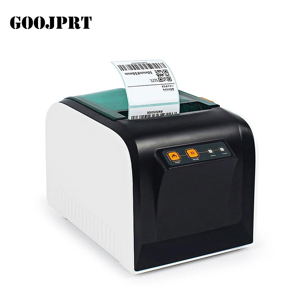 """מקורי GOOJPRT JP-3100TU תרמית תווית מדפסת 80 מ""""מ 101.6 מ""""מ\שנייה מדבקת הדפסת מכונת W/יציאת USB עבור חינם קבלה הדפסה"""