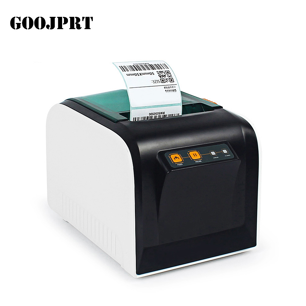 GOOJPRT JP-3100TU Thermal Label Printer 80mm Sticker Printing Machine with USB Serial Port for selling shipping receipt Print supermarket direct thermal printing label code printer