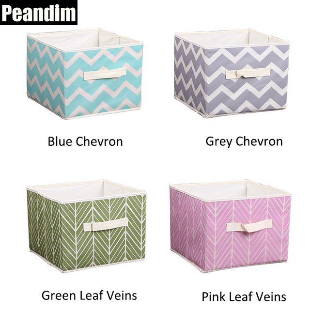 PEANDIM Home Storage Organization Childrenu0027s Toys Box Printing Non Woven  Fabric Storage Box Desktop Sundries