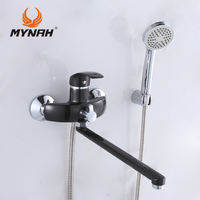 M2203I Russia Free Shipping Bathroom Faucet Shower Faucets Bath Mixer Shower System Tropical Shower Shower Rack