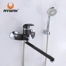 MYNAH M2203I Russland kostenloser versand Bad wasserhahn dusche armaturen bad Dusche mixer system Tropical Dusche Dusche rack mit mischer