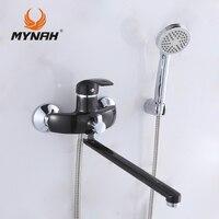 MYNAH Nga vận chuyển miễn phí Phòng Tắm vòi hoa sen basin vòi tắm mixer hệ thống Vòi Hoa Sen Nhiệt Đới Tắm Vòi Hoa Sen rack với mixer M2203I