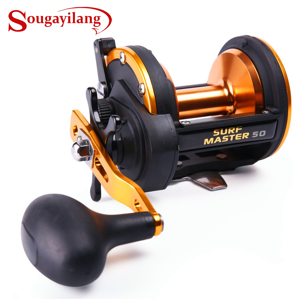 Sougayilang Professionelle Trommel Angelrolle Baitcastingrolle 3BB - Angeln