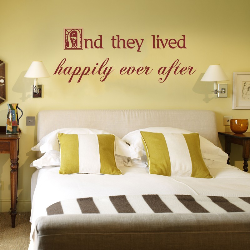 Romantic Wall Decal Bedroom Quote Vinyl Lettering Decor And They ...