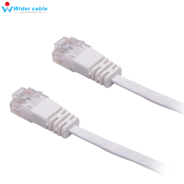 3Pieces White Ultra Slim 32AWG Copper Ethernet Lan Cable 32AWG Flat ...