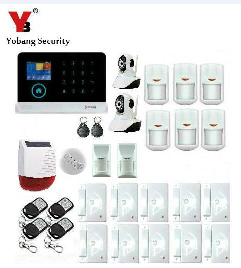 Yobang Security-433MHz Wireless GSM Alarm System Home Security Strobe Solar Siren IP Camera Pet PIR WIFI SMS Alarma Kits fuers wifi gsm sms home alarm system security alarm new wireless pet friendly pir motion detector waterproof strobe siren