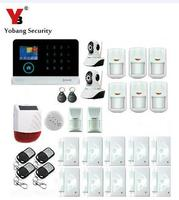 Yobang Security 433MHz Wireless GSM Alarm System Home Security Strobe Solar Siren IP Camera Pet PIR WIFI SMS Alarma Kits