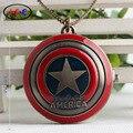 Капитан Америка кварцевые карманные часы мстители Ironman часы украшения стола подарки на день рождения для детей ZS013