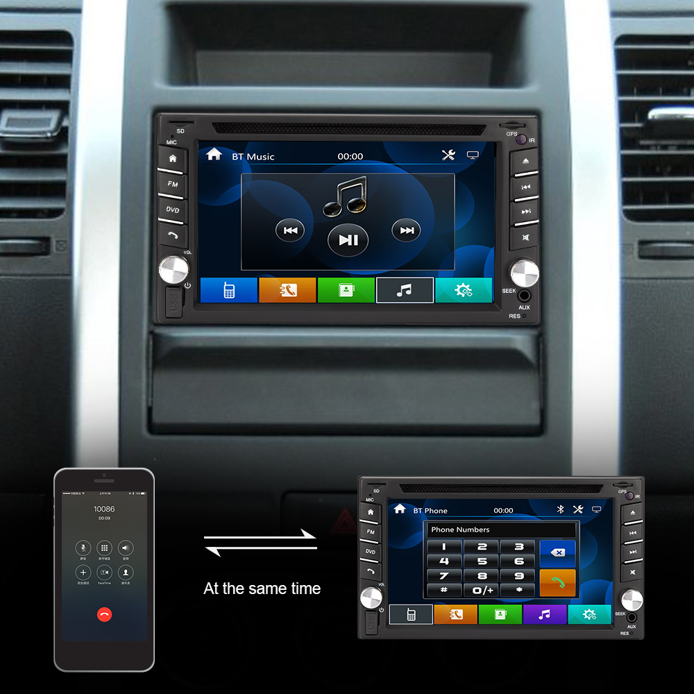 Eunavi universal Car DVD Radio Player Double 2 din Car pc tablet GPS Navigation in dash 2din Stereo Head Unit video touch screen