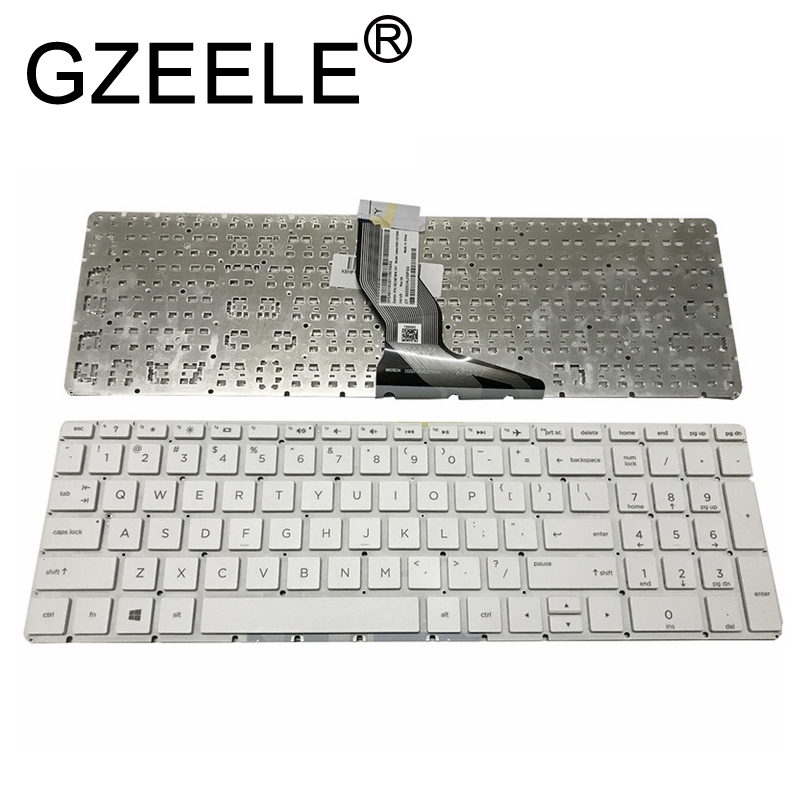 GZEELE NEW For <font><b>HP</b></font> 17g-br000 17g-br100 17q-bu000 17q-bu100 <font><b>250</b></font> <font><b>G6</b></font> 255 <font><b>G6</b></font> 256 <font><b>G6</b></font> 258 <font><b>G6</b></font> English <font><b>keyboard</b></font> US White color image