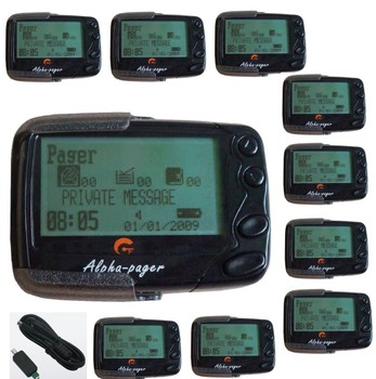 Free shipping! Portable text message pager,Pocsag paging system receiver, Alpha pager, 10pcs wireless text message pagers
