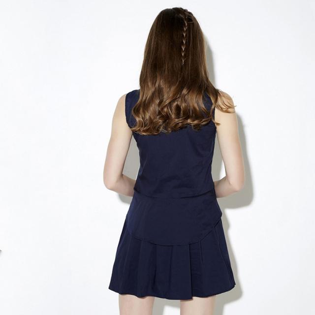 Sleeveless Preppy Style Mini A-Line Dress