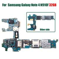 LEORY Original Main Motherboard Replacement For Samsung for Galaxy Note 4 N910F 32GB Unlock ed Europe Clean Imei