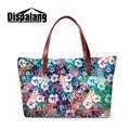 Dispalang 3D цветочный печати женщины сумки большой емкости девушки пляжная сумка старинные женские сумки новый стиль OL женщин сумки