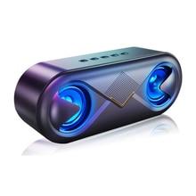 Mini alto falante bluetooth portátil sem fio alto falante som estéreo ao ar livre suporte bluetooth tf aux usb leitor de música