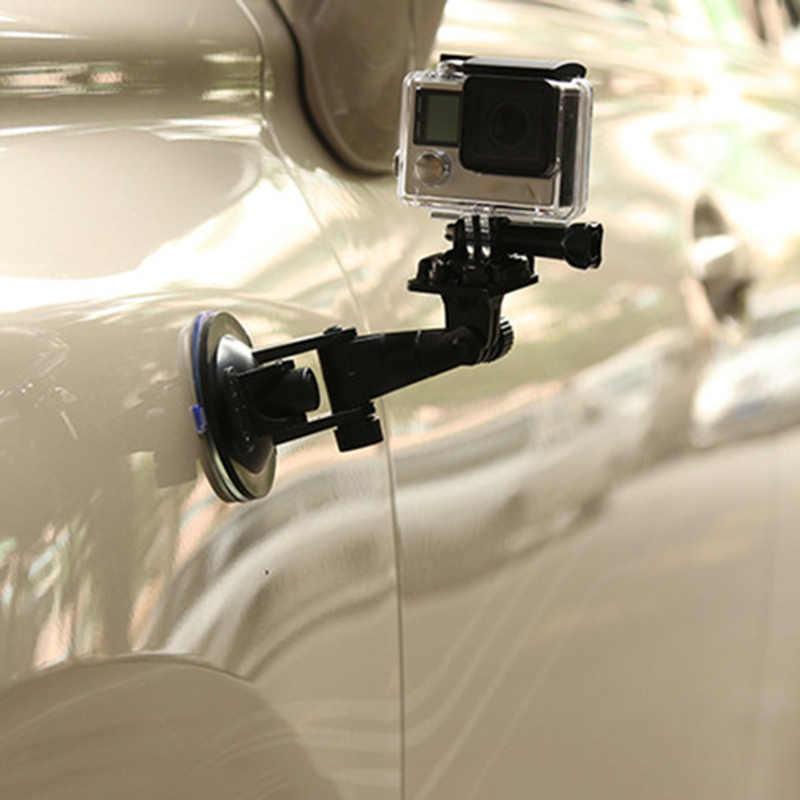 NÓNG Ô Tô dùng Trên xe Giá Đỡ Đen Chắc Chắn Kính Chắn Gió Cho GoPro Hero1/2/3/3 + BUS66
