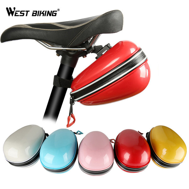 WEST BIKING Bicycle Waterproof Package Cycling Cushion Bag MTB Bike Hard Shell Tail Package Seatpost Bag Bicycle Accessories