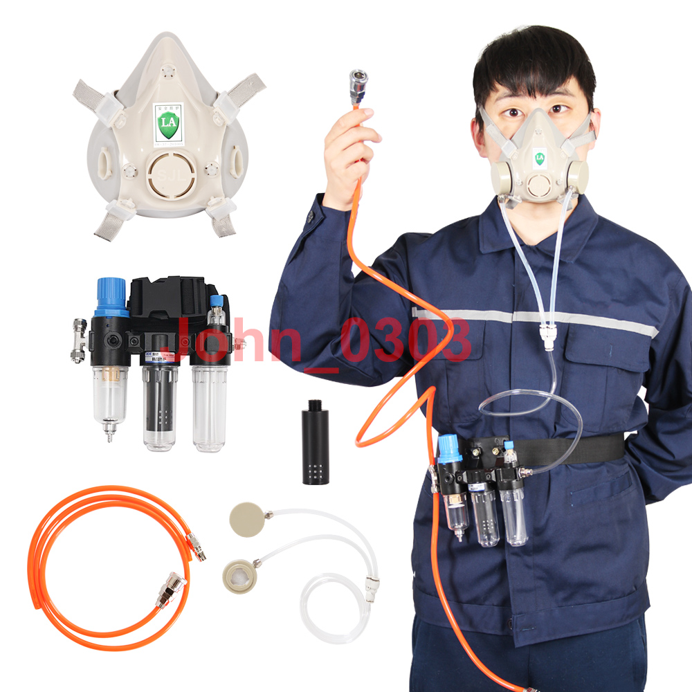 Three-In-One Function Supplied Air Fed Respirator Kit System Half Face Gas Mask Respirator