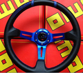 Black car racing steering wheels with pvc 14''350mm universal steering wheel steering-wheel wheel booster vw golf mk5 gti