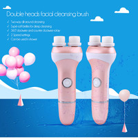Rotary Electric Facial Cleansing Brush Spa Mini Skin Care Face Cleaning Massage Brush Waterproof Vibration Deep Pore Cleanser