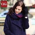 Подарки на Новый Год 2016 Женщины Кольцо Шарф Зима Теплая Шарфы Серый Фиолетовый Цвет bufanda