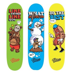 Image 3 - Professionelle Kanadische Skateboard Deck 7.875, 8, 8,125 zoll Doppel Rocker Skateboard Decks mit 1 pc freies griptape