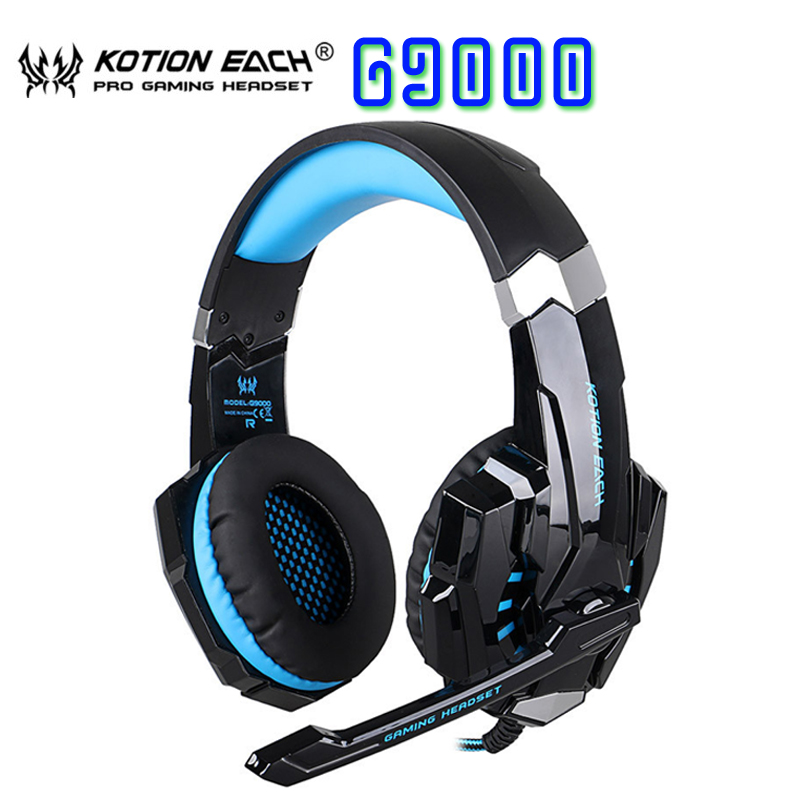 2017 KOTION EACH G9000 3.5mm Game Gaming Headphone Headset Earphone With Microphone For Phone/PS4/Computer PC Gamer PK G2000 fashion game headband headphone kotion each g9000 led light gaming headset earphone with mic for laptop gamer fone de ouvido