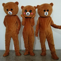 Brown Bear Cartoon Costume Performance Headgear Mascot Doll Costume Cartoon Suit Adult size Festive day adult doll clothes