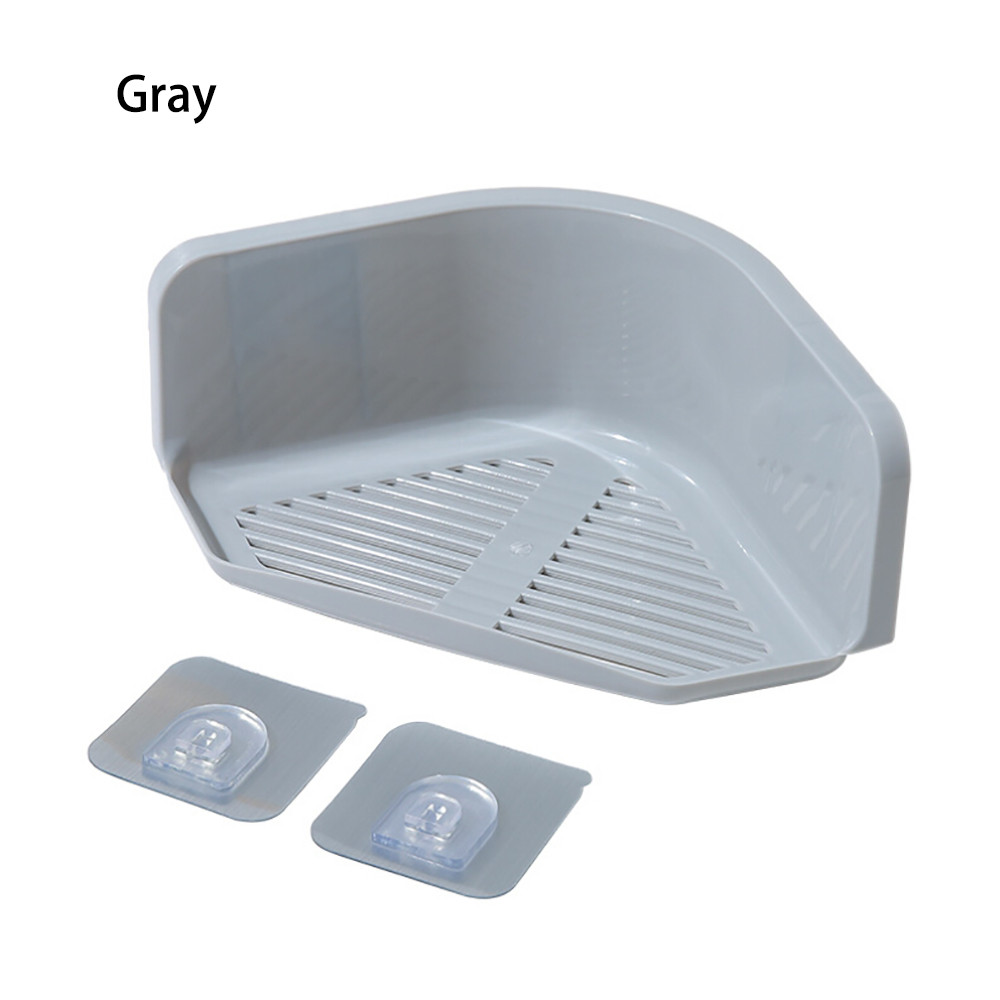 Plastic Suction Cup Bathroom Plastic triangular storage rack Kitchen ...