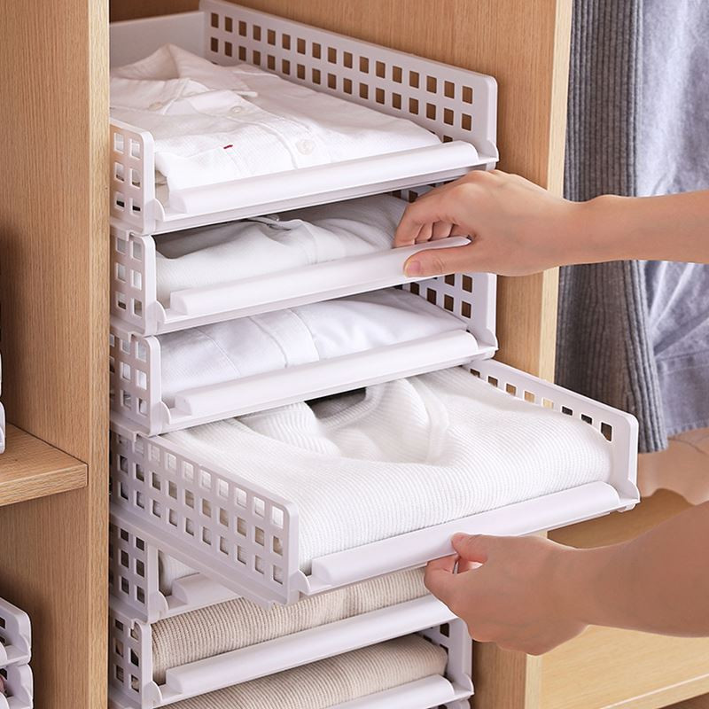 Retractable Drawer Divider Multi-use Adjustable Drawer Separator Home Kitchen Crease-Resistance Home Organization