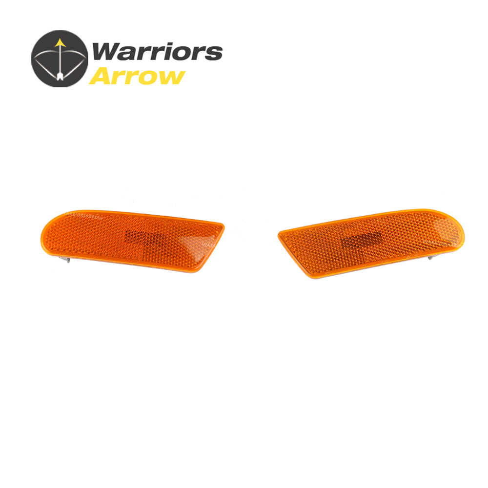 Pair 2208200121 2208200221 For Mercedes W220 S500 S430 S55 AMG S600 2000-2006 Left Right Marker in Bumper Turn Signal Light Lens