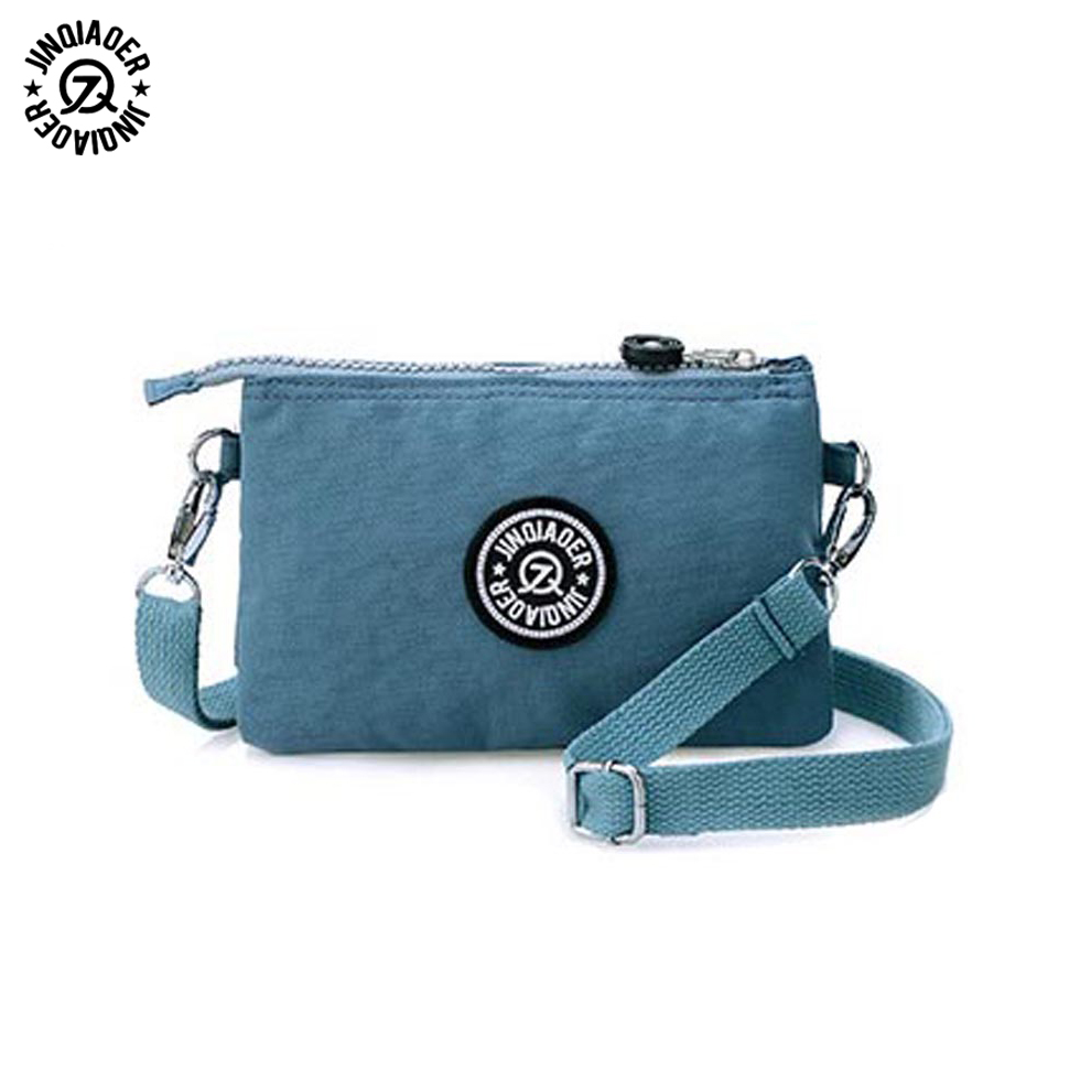JINQIAOER 2017 Clutch Bag Women Messenger Bags Casual Mini Crossbody Bag For Girls Waterproof Nylon Ladies Handbags Female B044 маленькая сумочка women bag atrra yo women bags for women messenger bags ladies clutch shoulder bag wallet
