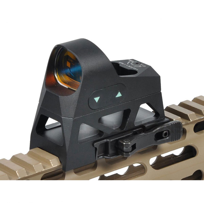 ROMEO3 Reflex Sight 3 MOA 1x25 Red Dot Sight Side-Loading with Low & QD Co-Witness Riser Red Reticle QD Mount 9 Level Brightness target solar power t1 t 1 red dot with riser mount and low mount tan ipsc hs403c hs503c