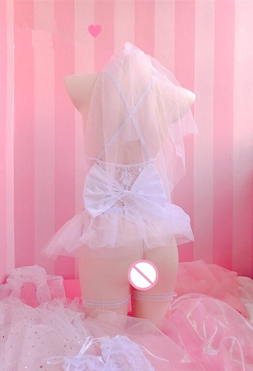 Image 5 - Perspectiva bonito doce lingerie bud malha de seda underdress  exótico casamento trajes sexy fadas rendas transparente pettiskirt seis  conjuntosConjuntos de lingerie