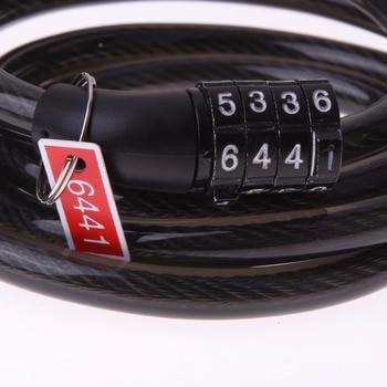 4 Digital Password Bike Cable Lock
