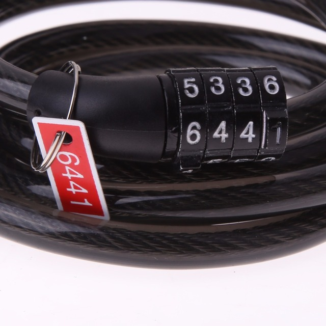 4 Digital Password Bike Cable Lock