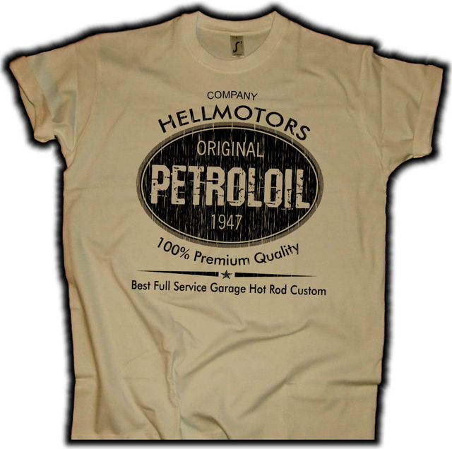 ba3bdc35ef50c9 Fashion Men T Shirt Free Shipping Petroloil Hellmotors Hot Rod Herren T-Shirt  Khaki Drag Race V8 Cruiser Biker Summer T-shirt