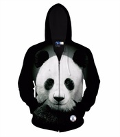 Autumn Winter Jacket For Men Women Hoody 3d Printed Big Animal Panda Hooded Hoodies 3d Sweatshirts
