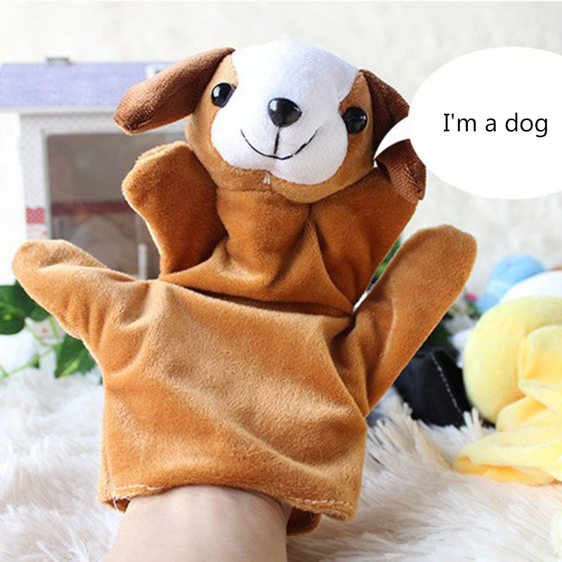 2 Pcs Baby Child Zoo Farm Animal Hand Glove Puppet Finger Sack Plush Toys Children Gifts 88 YJS Dropship in Puppets from Toys Hobbies