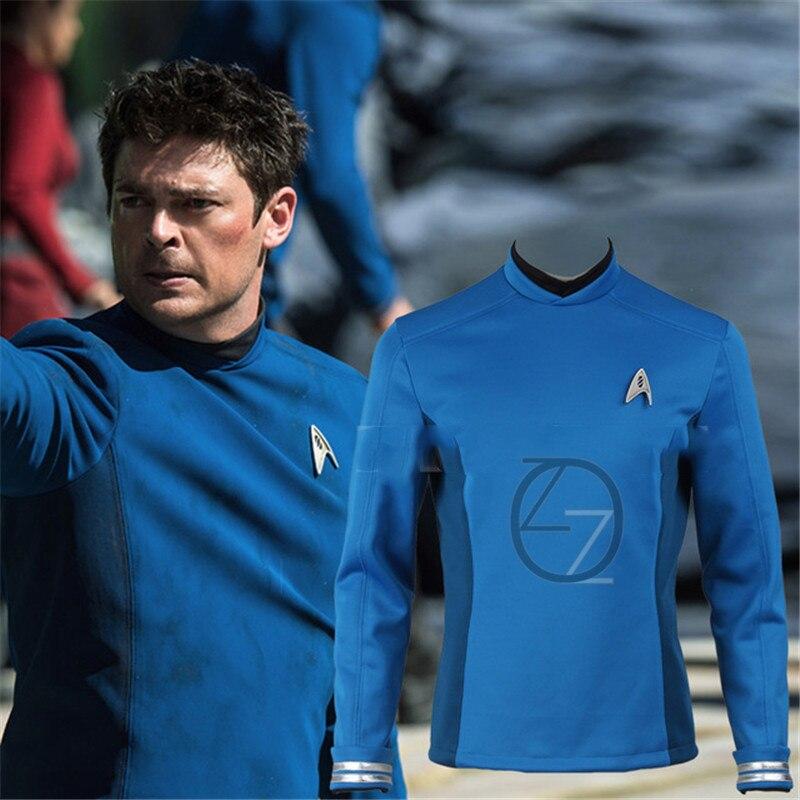 Star Trek Cosplay Star Trek Beyond Spock Science Officer Uniform Blue Top Shirt Halloween Carnival Costume Cosplay