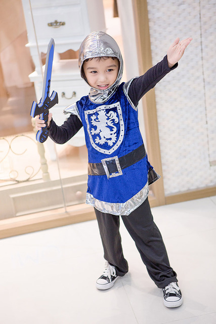 Kid Boys Halloween Medieval Knight Costumes Funny Larp Solider Hero Cosplay Blue Hooded Outfit Cool Coat  sc 1 st  AliExpress.com & Kid Boys Halloween Medieval Knight Costumes Funny Larp Solider Hero ...