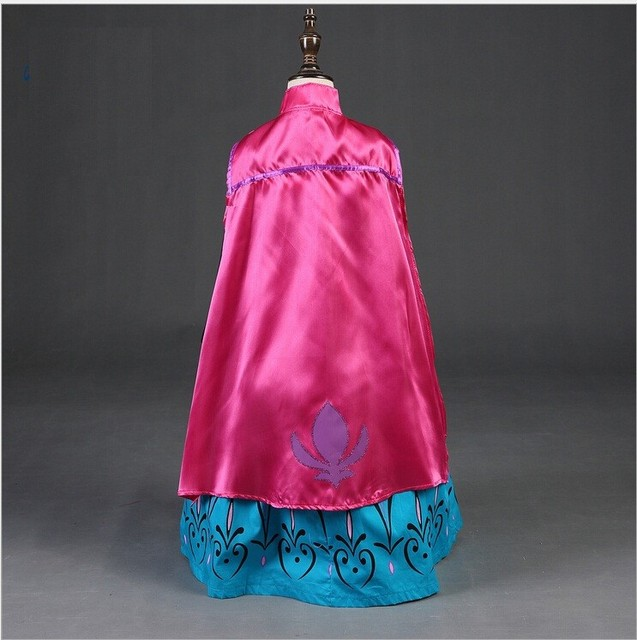 Elsa Anna Cosplay Costume Baby Girls Dress Christmas Summer Dresses Girl Princess Elsa Dress for Birthday Party Vestidos Menina 2