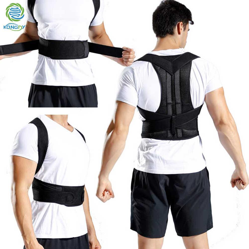 KONGDY עמוד השדרה מתקן מתכוונן לתקן כתף חזרה Brace חגורת גיבנת מניעת בחזרה תמיכת חגורת תיקון יציבה