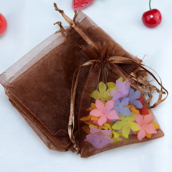 Wholesale 500pcs/lot,Drawable Coffee Large Organza Bags 13x18cm, Favor Wedding Gift Packing Bags,Packaging Jewelry Pouches