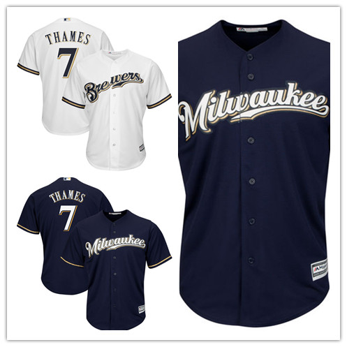 7e51df2bc ... Base Jersey Free Shipping Mens 7 Eric Thames baseball jerseys 100%  Stitched Embroidery Logos Majestic White Cool ...