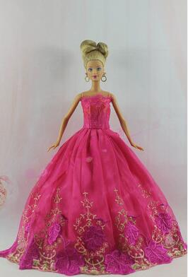 Genuine original New features dolls heart 30cm case dress for Barbie clothes wedding dress tail section variety