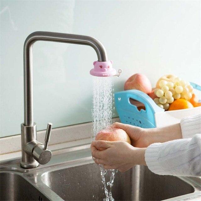 1pc 3 Colors Cartoon Shower Swivel Water Saving Tap Aerator Faucet ...