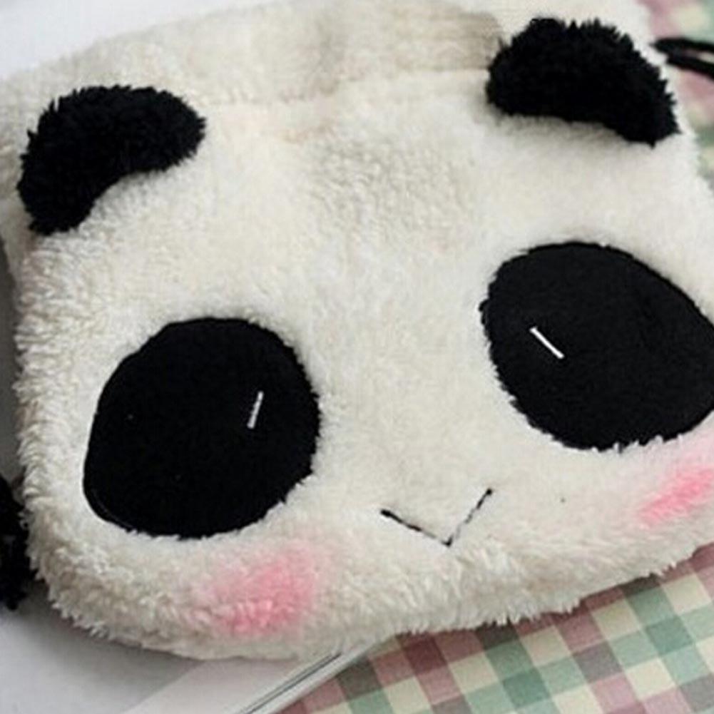 1 Pcs Cartoon Panda Plush Coin Purse Children Plush Coin Bag Purse Zip Change Purse Wallet Kids Girl Women For Gift