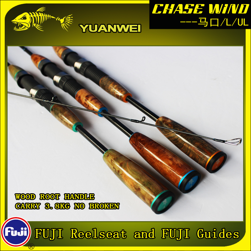 Yuanwei 1.98m 2.1m Spinning Rod UL/L 2Section Carbon Rod Vara De Pescar Carpe Fish Pole Canne a Peche Stand Lure Rod A057 Fishing Rods     - title=